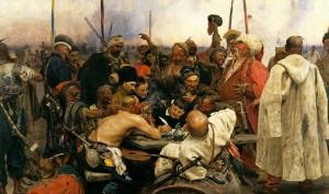 Илья Репин. «Запорожцы» («Запорожцы пишут письмо турецкому султану»). 1880—1891