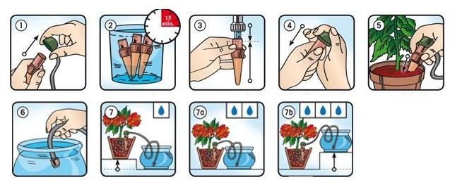 Капельница Блюмат (Blumat Junior)  для автоматического полива комнатныx растений