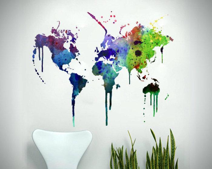 Карты мира разных стран