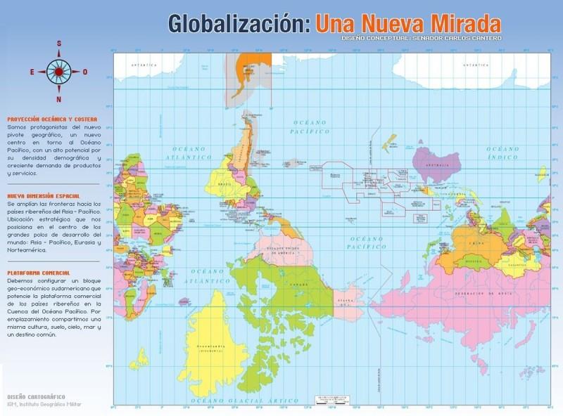 Карта мира для Чили