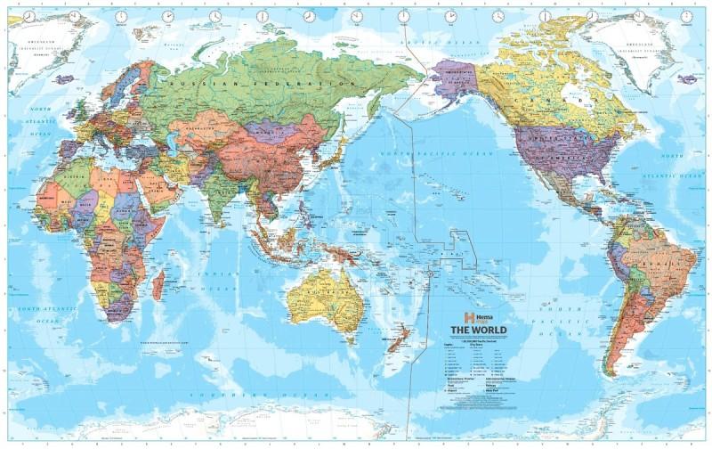 Карта мира для Китая