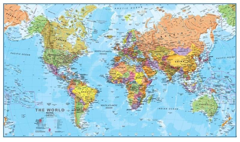 Карта мира для Европы