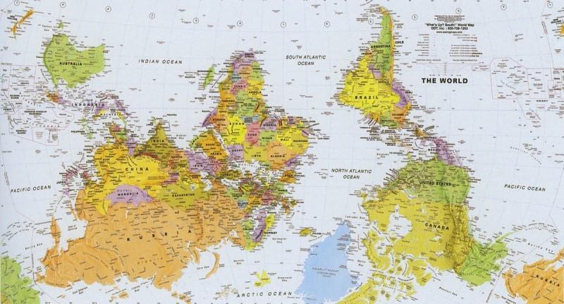 Карта мира для Южной Африки