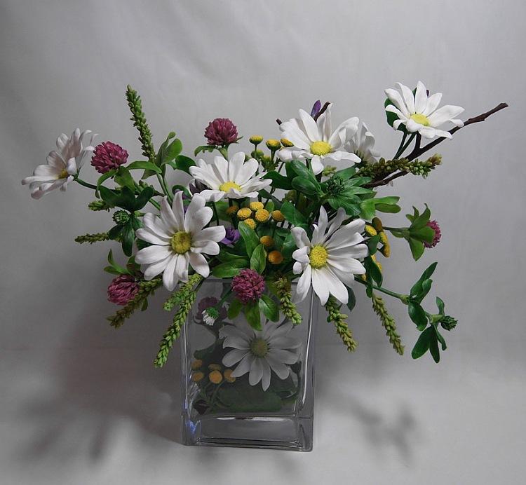 Цветы из полимерной глины фото