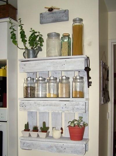 Полка для кухни (вертикальная) из поддонов