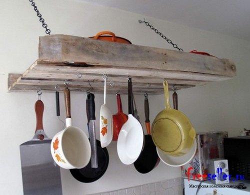 Полка для кухни (горизонтальная) из поддонов