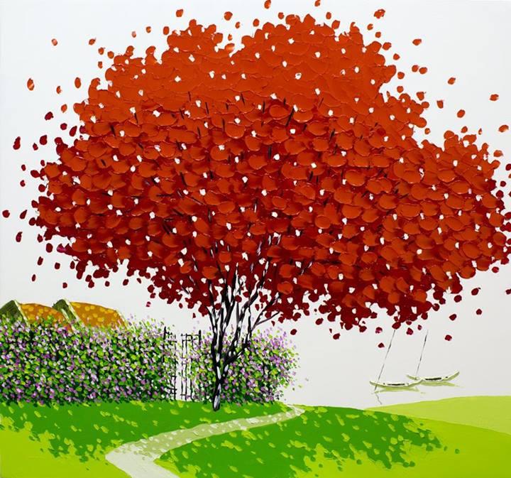 Мастихиновая живопись Фэн Тчу Транг (Phan Thu Trang)
