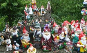Садовые гномы - самая большая коллекция в мире