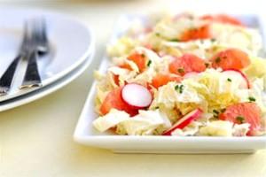 Салат из капусты с грейпфрутом
