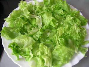 Хранение листьев салата в заморозке