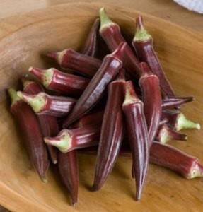 Бамия Красная Бургундия (Okra Red Burgundy), или Окра, Гомбо (Abelmoschus esculentus)