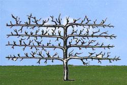 Пальметта с горизонтальными ветвями