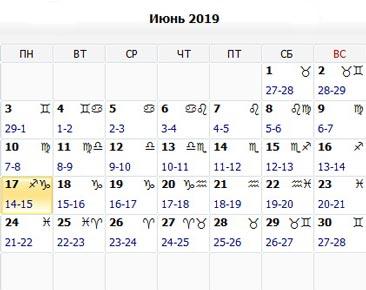 Лунный календарь. Народные приметы (июнь 2019)